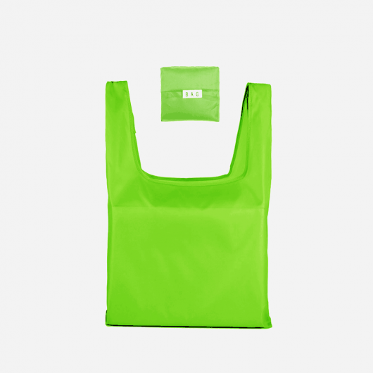 green foldable tote bag